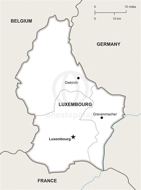 vector map  luxembourg political  stop map