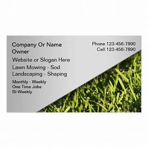 Lawn mowing business cards zazzle for Mowing business cards