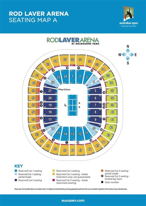 australian open  rod laver arena seating map