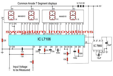 digital voltmeter circuit  ic