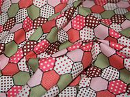 Retro Patchwork Print Cotton Poplin Fabric Pin…