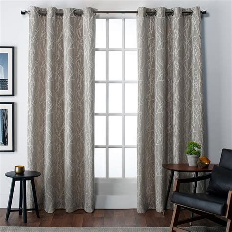 organic drapes finesse grommet top window curtain eh7910 03 2