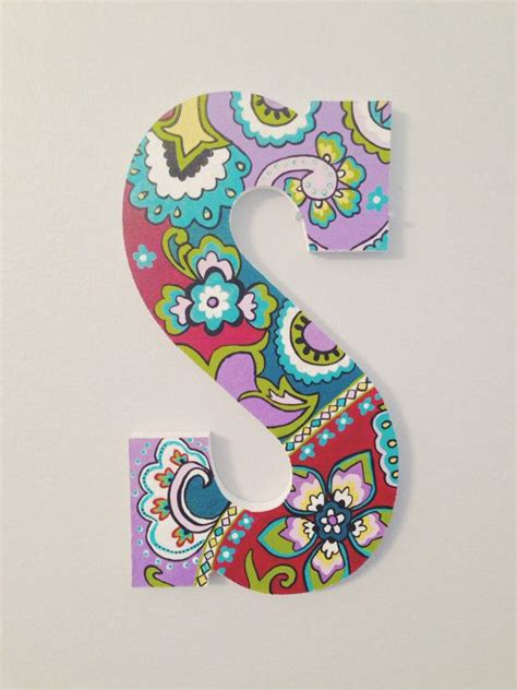 hand painted wooden letter vera bradley  kindasouthern painting wooden letters alphabet