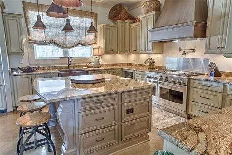industrial french country kitchen toulmin cabinetry design
