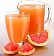 Just one glass of grap...Grapefruit Juice