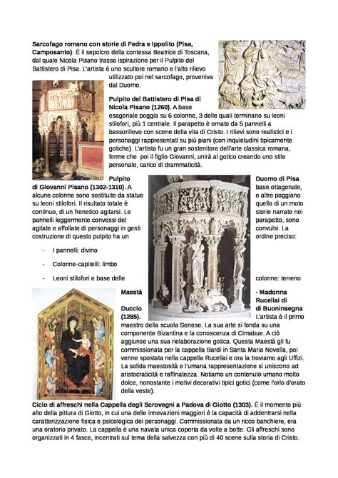Test Di Storia Dell Arte by Storia Dell Arte 1300