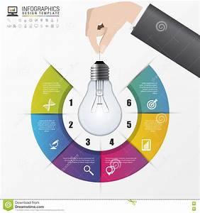 Light Bulb Infographic  Template For Circle Diagram