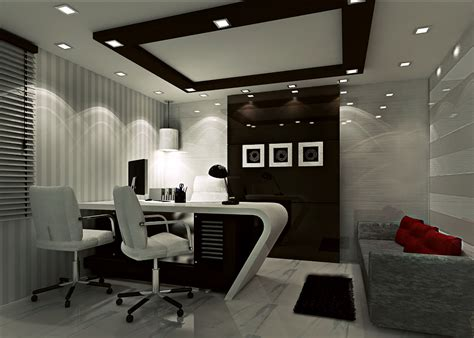 Interesting Office Room Interior  Home Design #423