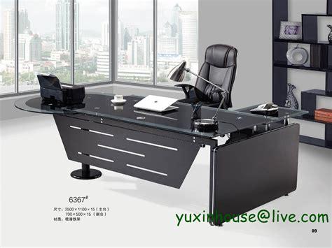 sale tempered glass office desk desk table commercial office furniture modern design