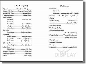 wedding church program template