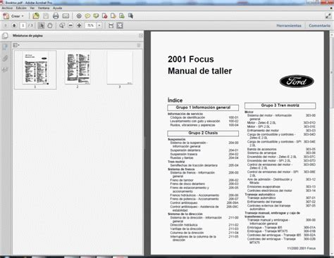 ford focus mk1 1998 2004 manual de taller manuel de reparation manuale di officina
