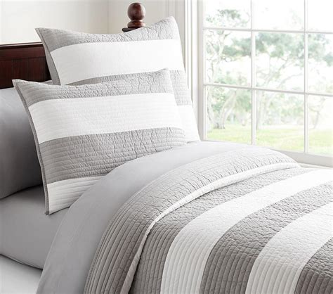 rugby stripe comforter pottery barn kids au
