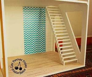 maison de barbie 4 fin de la decoration et escalier With good commentaire peindre des escaliers en bois 5 peindre un escalier en bois