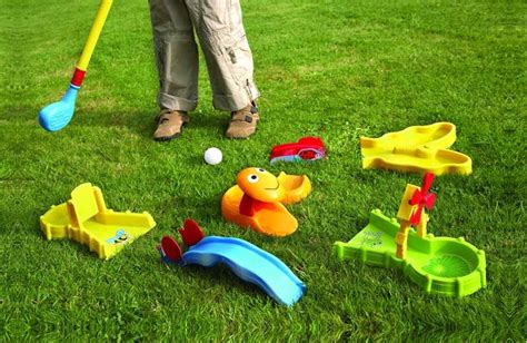 jouet set mini golf enfant clubs balles obstacles