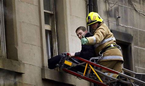 Five Saved From Tenement Blaze