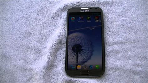Samsung Galaxy Note 2 Running Cm 10.1 Jelly Bean 4.2.2