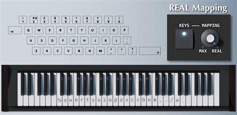 virtual piano keyboard mappings