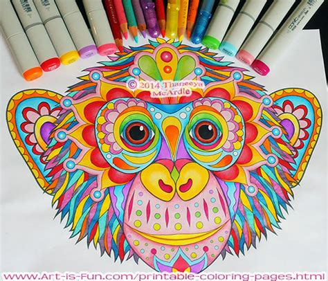 printable coloring pages fun downloadable adult coloring