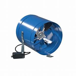 VENTS-US 262 CFM Power 8 in Metal Axial In-Line Duct Fan