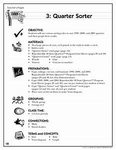 Quarter Sorter Lesson Plan For 1st Grade