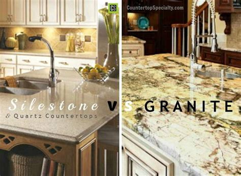 Price Difference Between Quartz And Granite Countertops by Compare Countertop Materials Silestone Vs Granite Vs