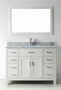 48 Inch Single Sink Bathroom Vanity In White UVABXKAWH48