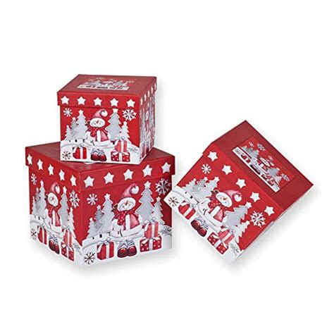 piece christmas nesting gift boxes red background