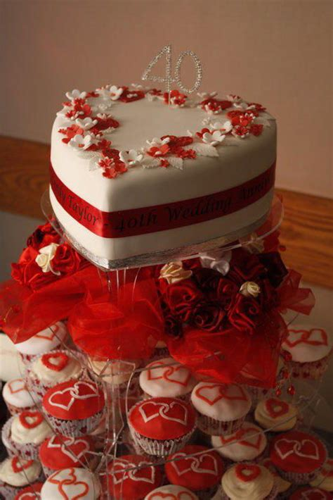 40th Anniversary Decorations - 25 best ideas about 40th anniversary cakes on