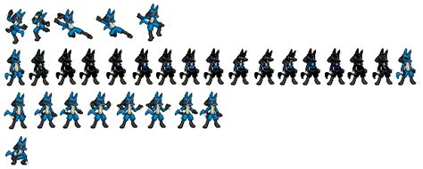 Some Extra Lucario Sprites By Ralord On Deviantart