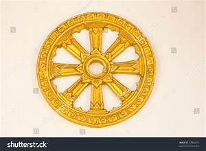 Wheel Dhamma Symbol Buddhism Stock Photo 33006475 ...