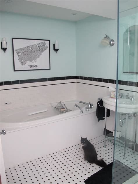 Spanish Tile Bathroom by Finishing Touches Art Deco Lighting Big Dig Reno