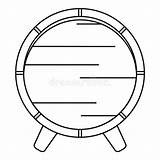 Barrel Outline Wooden Icon Rack Vector sketch template