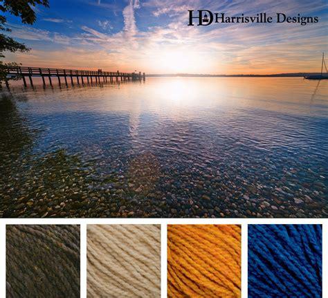 summer dock yarn color palette shetland colors walnut sand gold and cobalt colours