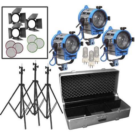 arri light kit arri 650w fresnel compact 3 light kit lk 0005657 b h photo