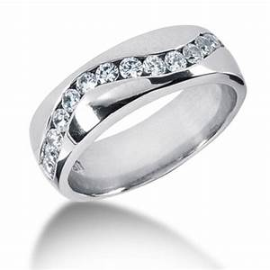 14kt palladium platinum mens diamond wedding band mr1204 With diamond wedding rings men