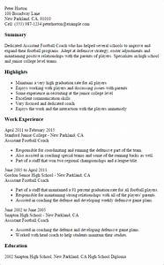professional assistant football coach templates to With football cv templates free