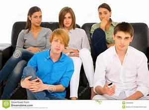 Teenagers Watching Tv Stock Photography - Image: 28080592