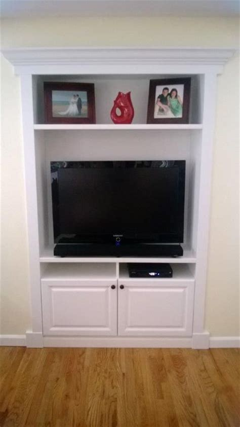 built in tv cabinet fill in that recessed space in the house with a custom