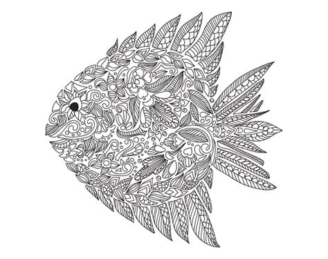 coloring page fish  printable adult coloring pages popsugar smart living photo