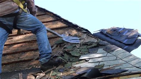 Roof Removal With A Pitch Fork  How To Remove Shingles