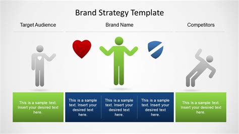brand strategy template  powerpoint slidemodel
