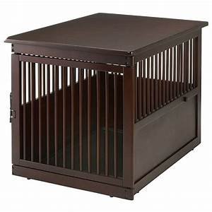 richell large end table dog crate radiofencecom With best wooden dog crate