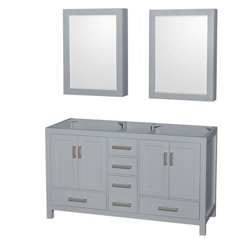 wyndham collection medicine cabinet wyndham collection sheffield 60 in vanity cabinet with