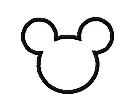 Mickey Mouse Shape Template by Mickey Mouse Silhouette Applique Design Instant