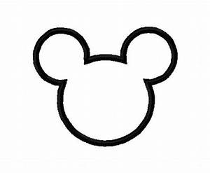 mickey mouse head template clipartsco With mickey mouse silhouette template