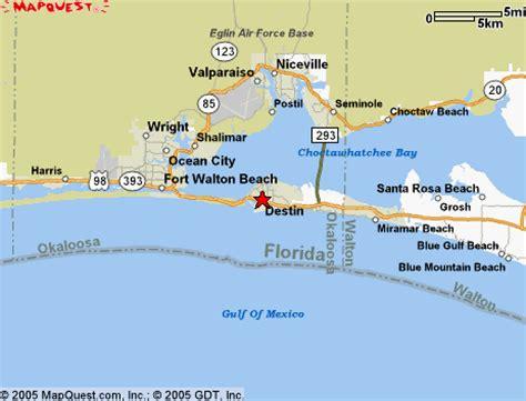 destin florida map  attractions verkuilenschaaij