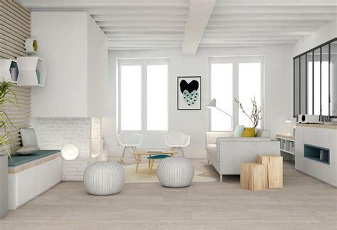 decoration appartement bois  blanc