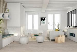 Deco Bois Et Blanc : decoration salon bois clair ~ Melissatoandfro.com Idées de Décoration
