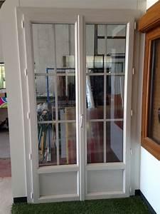 Porte Fenetre Pvc 2 Vantaux : porte fen tre 2 vantaux pvc fenetres et baies coulissantes ~ Nature-et-papiers.com Idées de Décoration