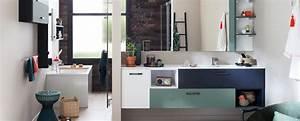 Ambiance Salle De Bain : salle de bains avec douche et baignoire ambiance loft ~ Melissatoandfro.com Idées de Décoration